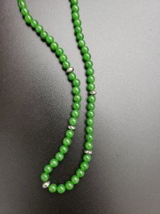 Jade and White Pyrite Necklace