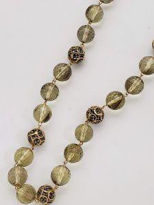 Lemon Quartz and Original Design Zircon and Vermeil Beads