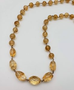 Knotted Vermeil Citrine Necklace