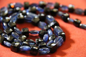 Kyanite and Black Spinel Necklace