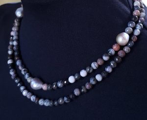 Jasper and Pearl Two-Strand Necklace