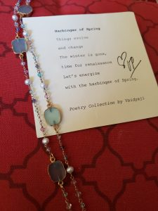 Aventurine Necklace with Pearls and Sapphire