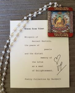 Pearl and Sterling Silver Necklace With Tibetan Buddha Pendant