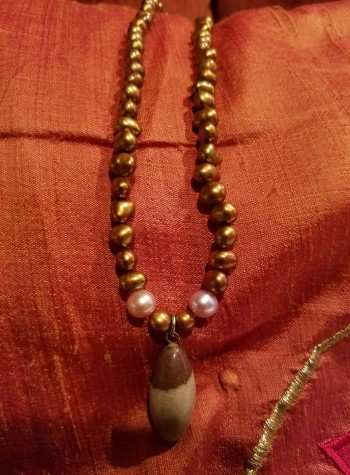 Brown Pearl with Shiva Lingam Pendant
