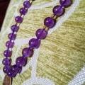 Amethyst and Semi-Precious Gem Delicate Chain Necklace