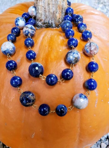 Lapis Lazuli and Sodalite Necklace