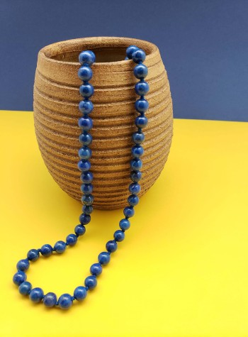Knotted Lapis Lazuli Necklace