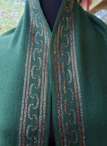 Evergreen Shawl with Swarovski Crystals Border