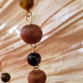 Sandalwood, Tiger Eye, Mookaite, Agate Knotted Vermeil Necklace