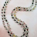 Tourmaline and Green Amethyst Two-strand Necklace