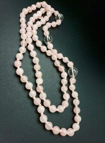 Knotted Rose Quartz Necklace